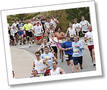 Runners participating in the annual Crazylegs run.