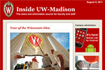 "Screen shot of the ""Inside UW–Madison"" website."