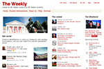 "Screen shot of ""The Weekly"" website."
