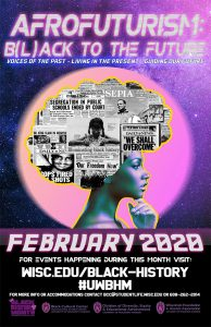 A poster promoting Black History Month at UW–Madison