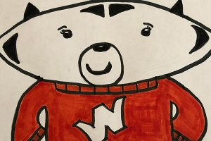 One of the submitted illustrations of Bucky Badger.